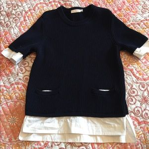 "Tory Burch Rosemary ""Layered Look"" sweater"